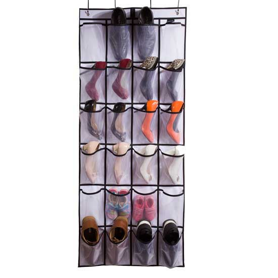 a06104595b4 Misslo Over the Door Organizer 24 Large Mesh Pockets for Shoes and ...