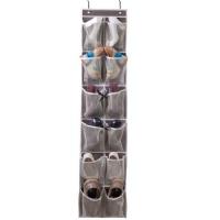 8bafedf622b MISSLO Heavy Duty Over Door Organizer Hanging Shoe Storage for Narrow Door  with 12 Large Mesh Pockets (Coffee)