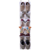 Heavy Duty Over the door Storage with 12 Mesh Pockets (White)