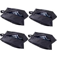 Misslo Portable Nylon Travel Shoe Bags with Zipper Closure (4, 15 inch)