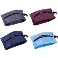 Misslo Portable Waterproof Nylon Travel Shoe Bags with Zipper Closure (Pack 4, MIX COLOR)