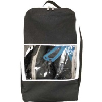 Misslo Waterproof Travel Shoe Bag With Clear Window (Black)