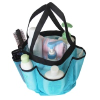 Misslo Quick Dry Mesh Pockets Shower Tote for College, Camping, Dorm room (Blue)