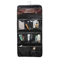 Misslo Foldable Hanging Travel Toiletry Bag Cosmetic Organizer (Black)