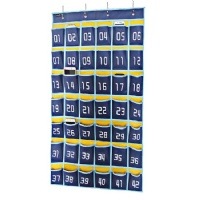 Misslo Numbered Classroom Pocket Chart for Cell Phones, 42 Pockets