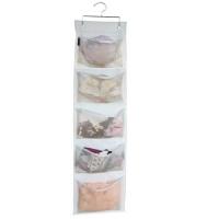 Misslo 10 Pockets Hanging Nursery Organizer Undearwear Closet Storage, Beige