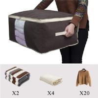 Closet bedding storage bags, set of 2