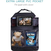 Back Seat Kick Mats with Pockets storage for Ipad and Accessories