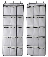MISSLO 2 Pack Mesh Over The Door Storage Hanging Pantry Organizer (51